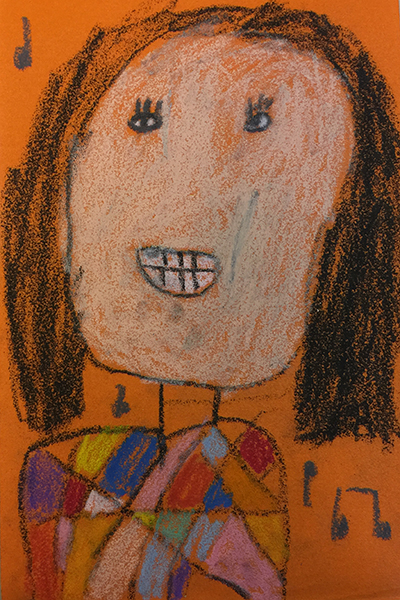 创意儿童画课程在油画棒的基础上,将彩砂纸与其有机结合,孩子图片